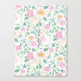 Farmhouse Floral Pastel Canvas Print