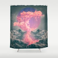 soul Shower Curtains featuring Ruptured Soul  by soaring anchor designs