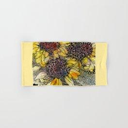 Ukrainian Sunflowers Hand & Bath Towel