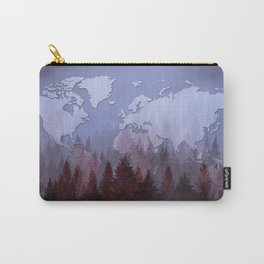 world map forest 2 Carry-All Pouch