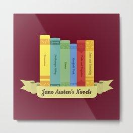 Jane Austen's Novels III Metal Print