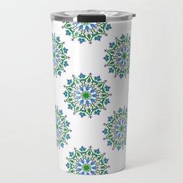 Mandala - cool colours Travel Mug