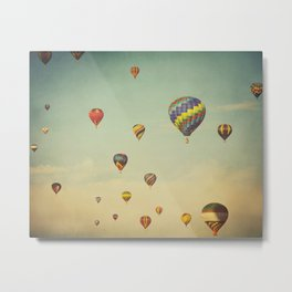 Floating in Space Metal Print