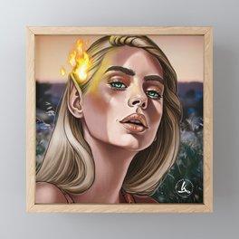 Fireheart Framed Mini Art Print