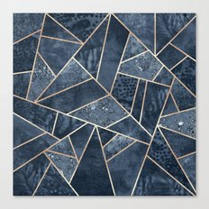 Soft Dark Blue Stone Canvas Print