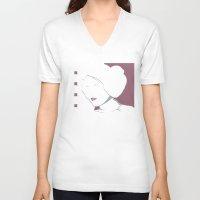 princess leia V-neck T-shirts featuring Princess Leia Pop Art by Patrick Scullin