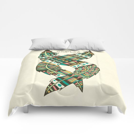 Soulmate Feathers Comforters