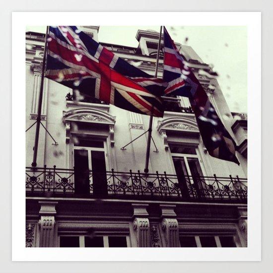 Raise the flag Art Print