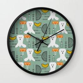 Mid-century spooky pattern Wall Clock