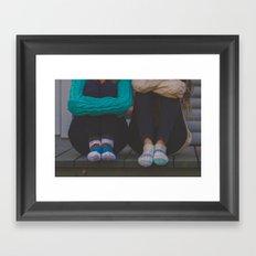 wool socks. Framed Art Print