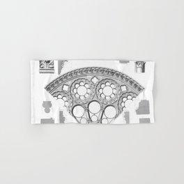 Notre Dame Rose Window Facade Architecture Hand & Bath Towel