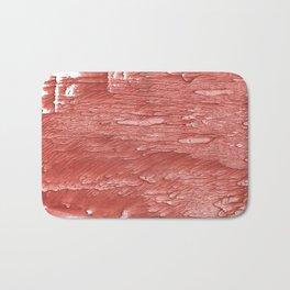 Brick red nebulous wash drawing paper Bath Mat
