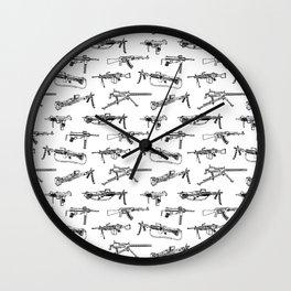 Machine Guns Wall Clock