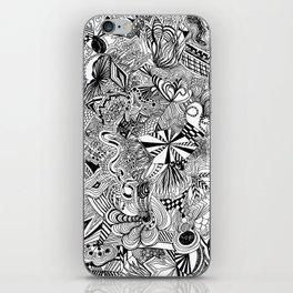 scribble me happy iPhone Skin