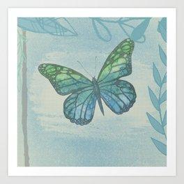 Watercolor Butterflies #3 Art Print