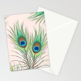 Unique Peacock Feathers Pattern Stationery Cards