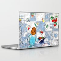 cooking Laptop & iPad Skins featuring Cooking with love by Bozena Wojtaszek