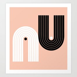 Abstraction_BLACK_WHITE_LINE_POP_ART_Minimalism_017W Art Print