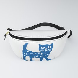 Navy blue cat pattern Fanny Pack