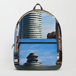 Skyline of Rotterdam Backpack
