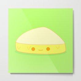 Cute Gooey Cheese Metal Print