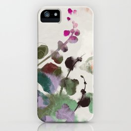 floral abstract summer autumn iPhone Case