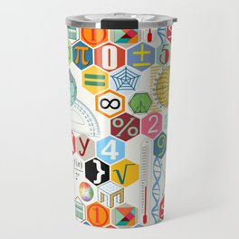 Math in color (white Background) Travel Mug
