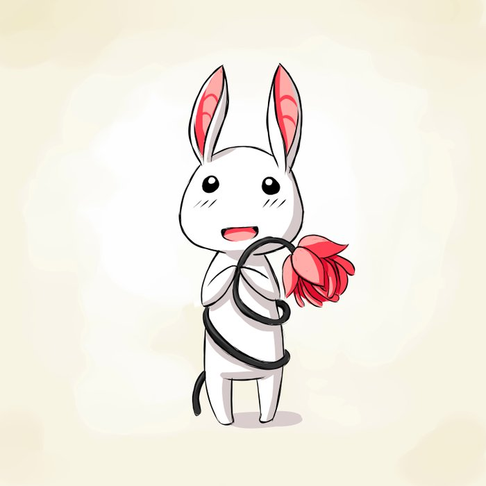 Bunny Flower Duvet Cover