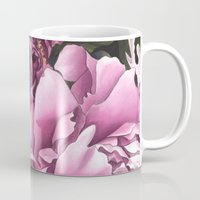 peonies Mugs featuring Peonies by Jada Fitch