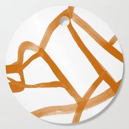 Abstract Map orange Nr. 2 Cutting Board