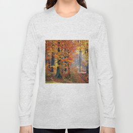 Colorful Autumn Fall Forest Long Sleeve T-shirt