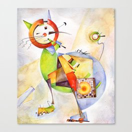 Cat. Inspired By Wassily Kandinski Canvas Print