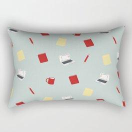 Red Writing Hood Rectangular Pillow