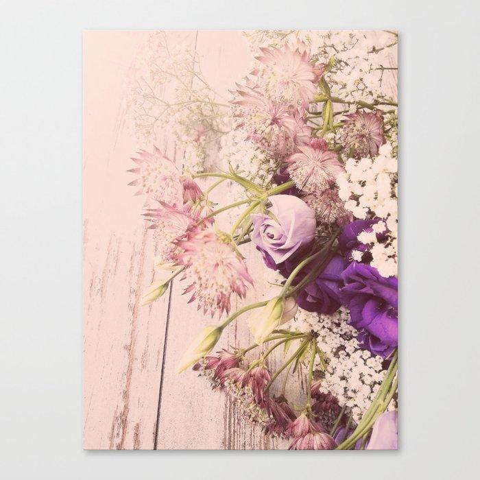 Gorgeous Vintage Floral Canvas Print