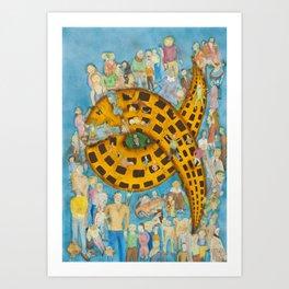 Torrid Yellow House / Casa Amarela Tórrida Art Print