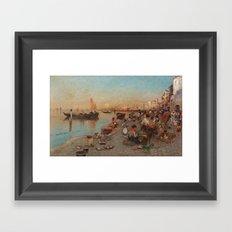 WILHELM VON GEGERFELT, SCENE FROM VENICE. Framed Art Print