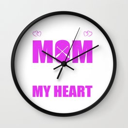 Rowing Moms Full Heart Mothers Day T-Shirt Wall Clock