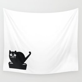 Surprised cat! Wall Tapestry