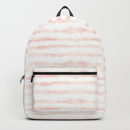 Watercolor Stripes in Pink Backpack