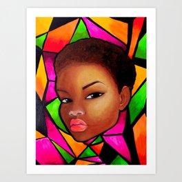 Wise Afro Natural hair Art Print