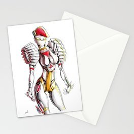 ROBOT WOMAN 1 Stationery Cards
