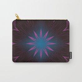 Pink Sunbeam & Blue Diamond Mandala Carry-All Pouch