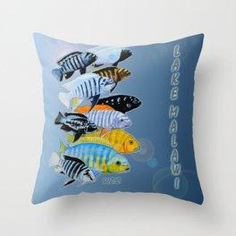 The Rare Mbuna Throw Pillow