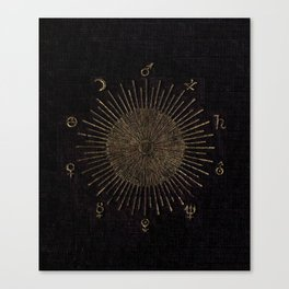 Astronomy Symbols Canvas Print