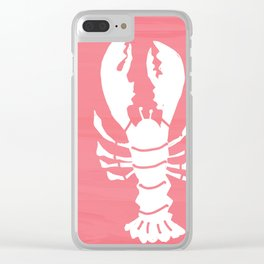 Block Print Lobster Clear iPhone Case