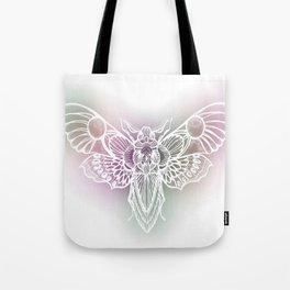 Botanical Moth, Moth Art, Succulent Hues Tote Bag