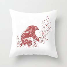 Golden Bear Throw Pillow