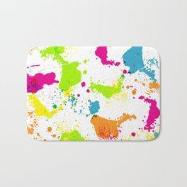 colorful paint blots Bath Mat
