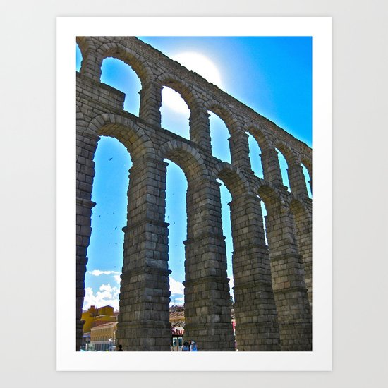 Aqua Arches Art Print