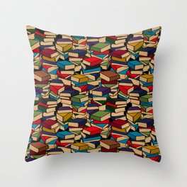 The Book Collector Throw Pillow